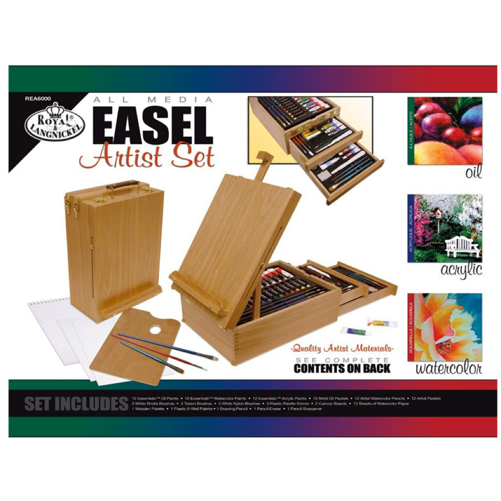 R&L 104-Piece All Media Easel Art Set