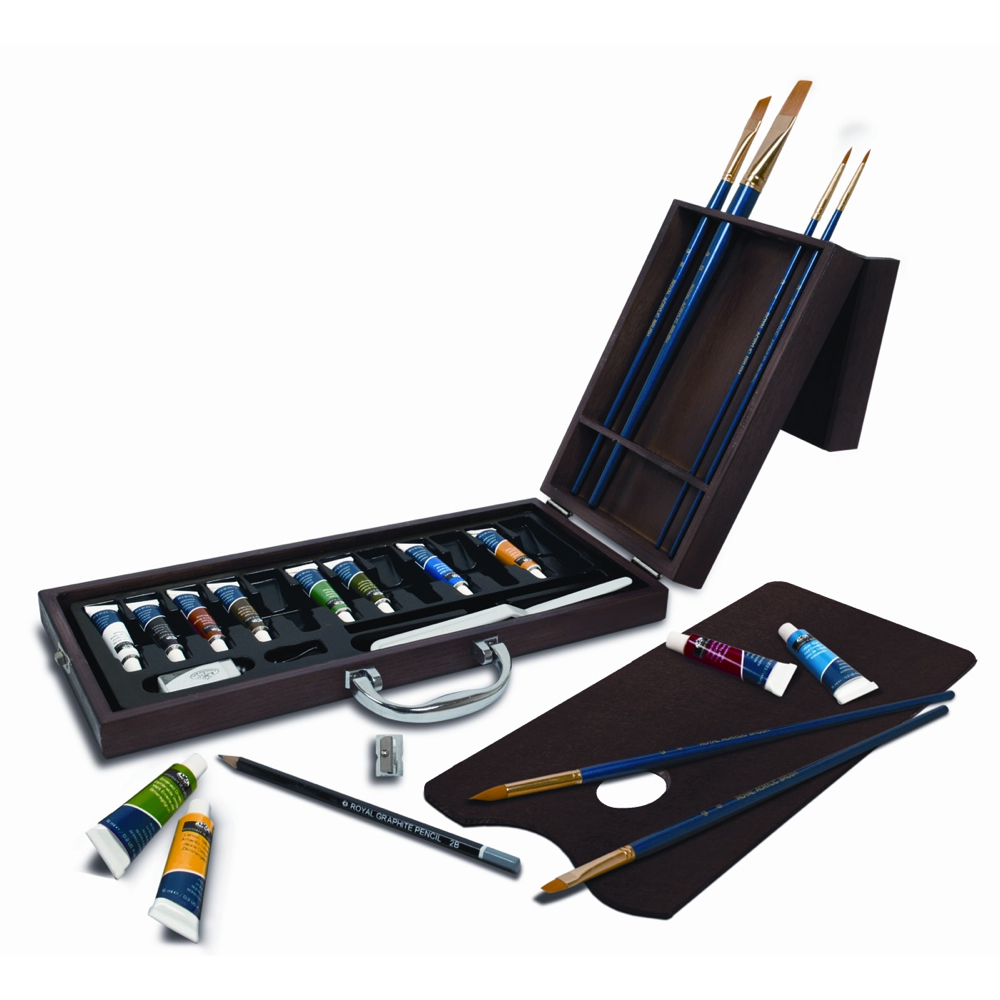 R&L 27-Piece Acrylic Artist Art Case Set