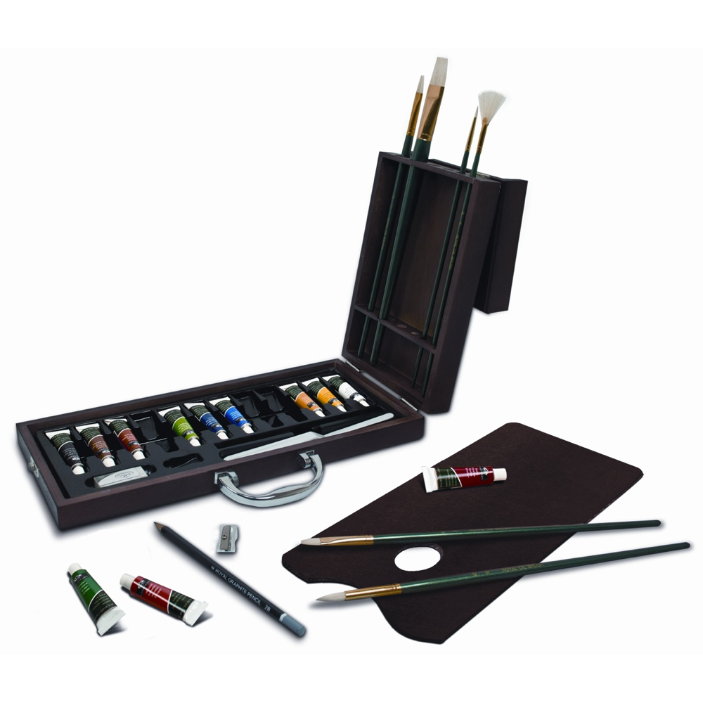 R&L 27-Piece Oil Artist Art Case Set