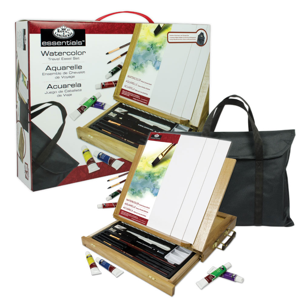 R&L 27-Piece Watercolor Travel Easel Set
