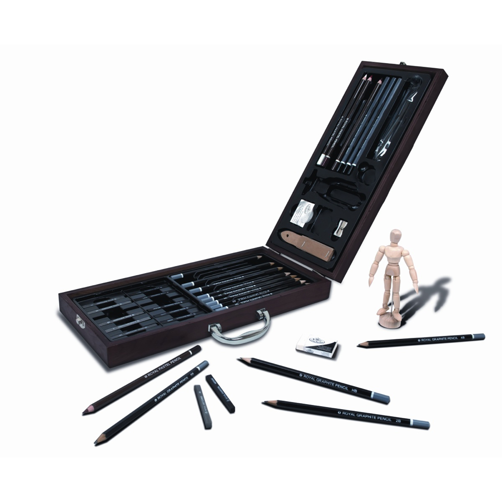 R&L 38-Piece Sketching Artist Art Case Set