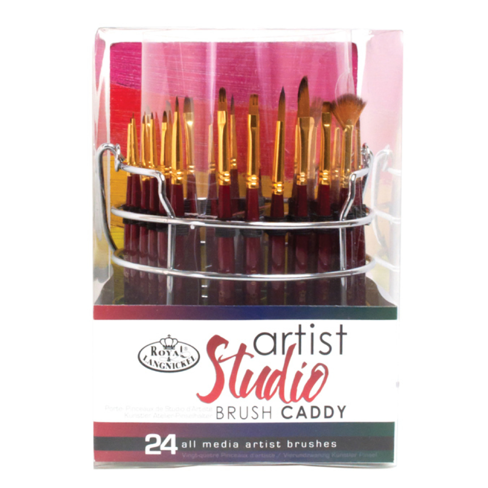 R&L 18-Pc Standard Handle Artist Studio Caddy