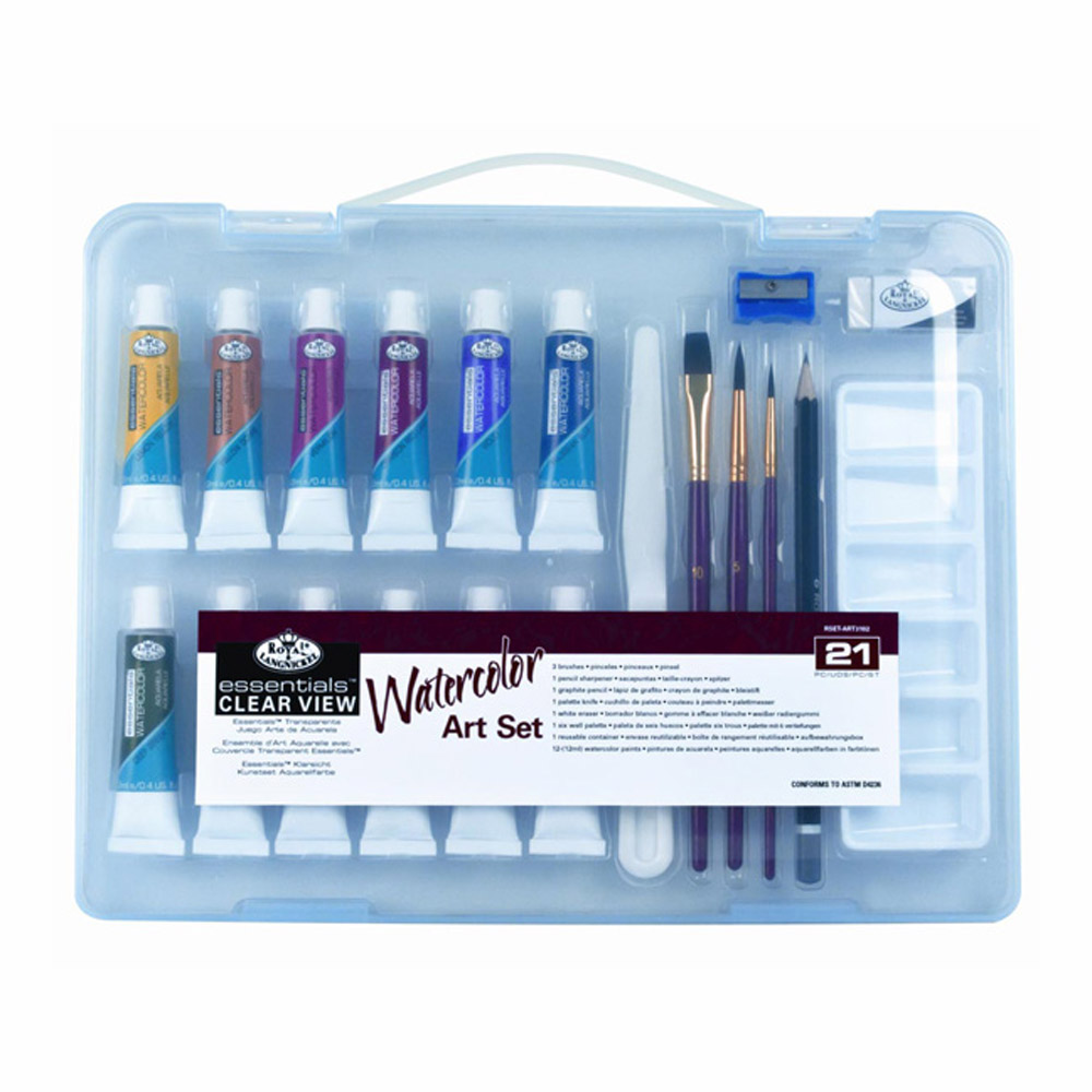 R&L 21-Pc Clearview Small Watercolor Art Set