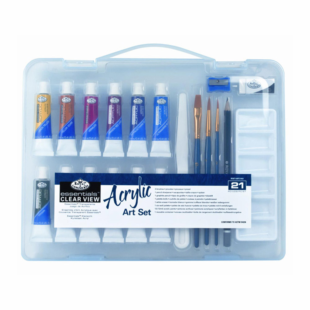 R&L 21-Pc Clearview Small Acrylic Art Set