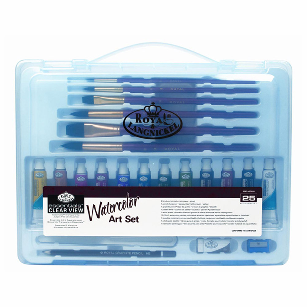 R&L 24-Pc Clearview Large Watercolor Art Set