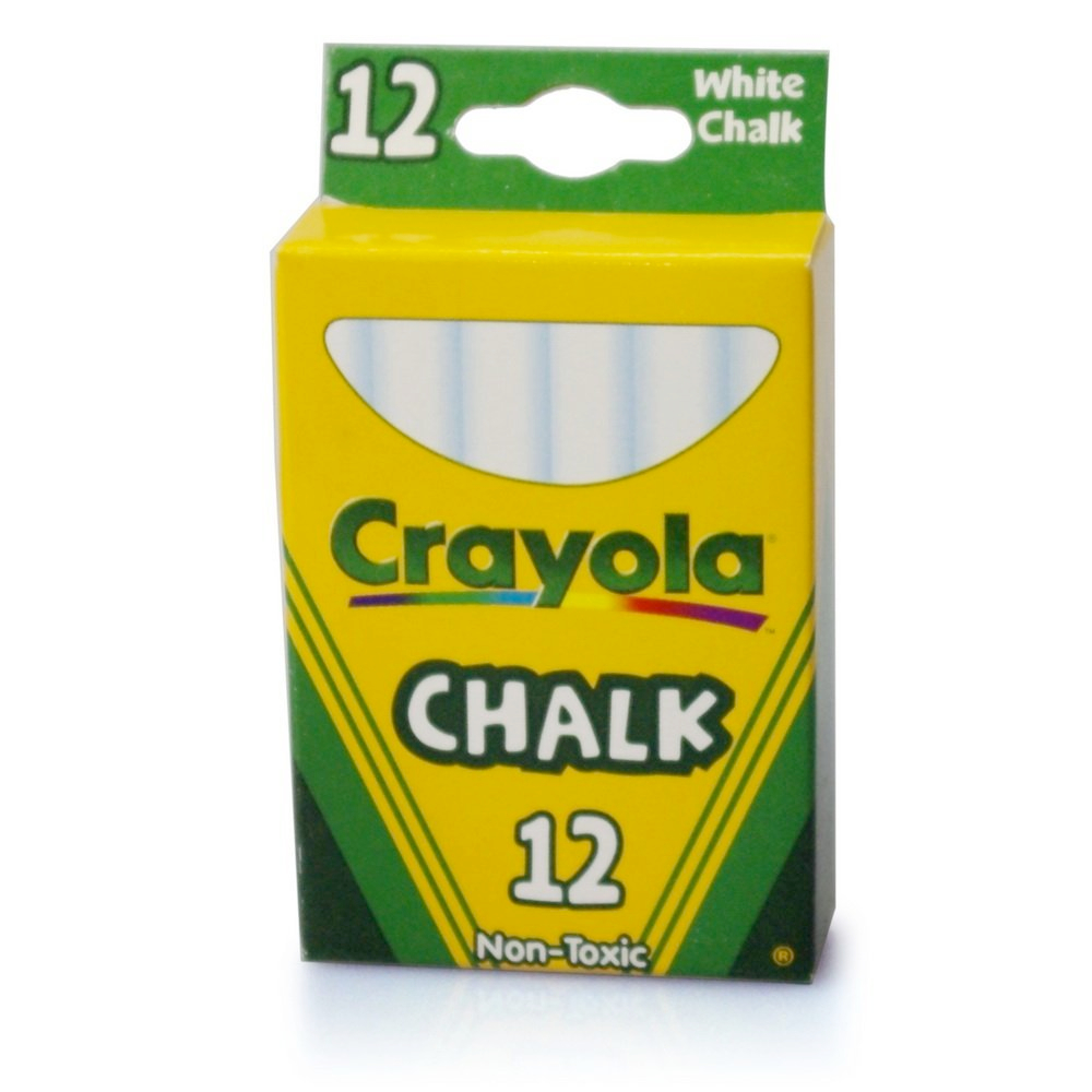 Crayola 51-0320 12 White Chalk