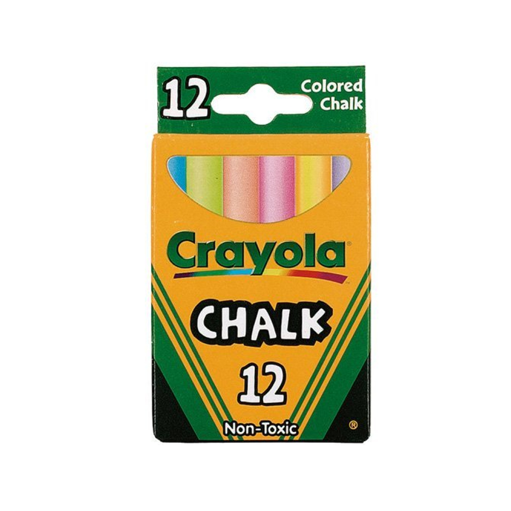 Crayola 51-0816 12 Colored Chalk