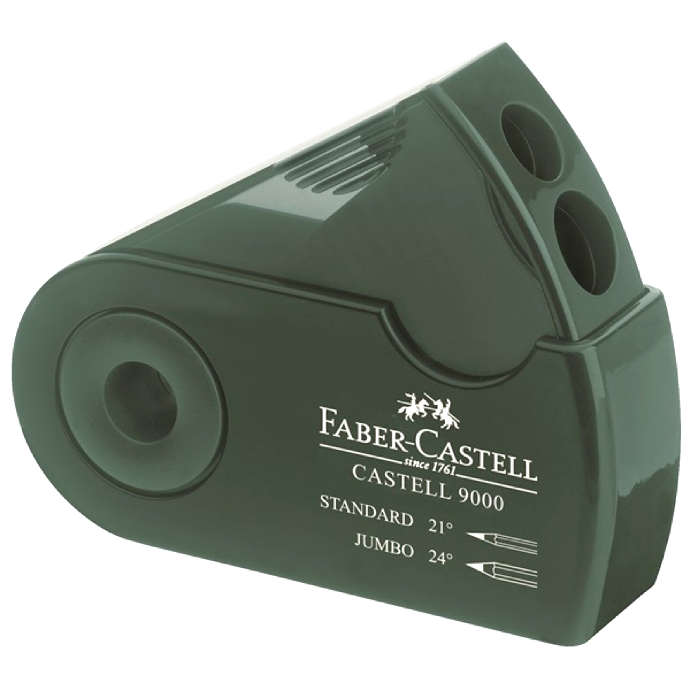 Faber-Castell 9000 Double-Hole Sharpener Blk