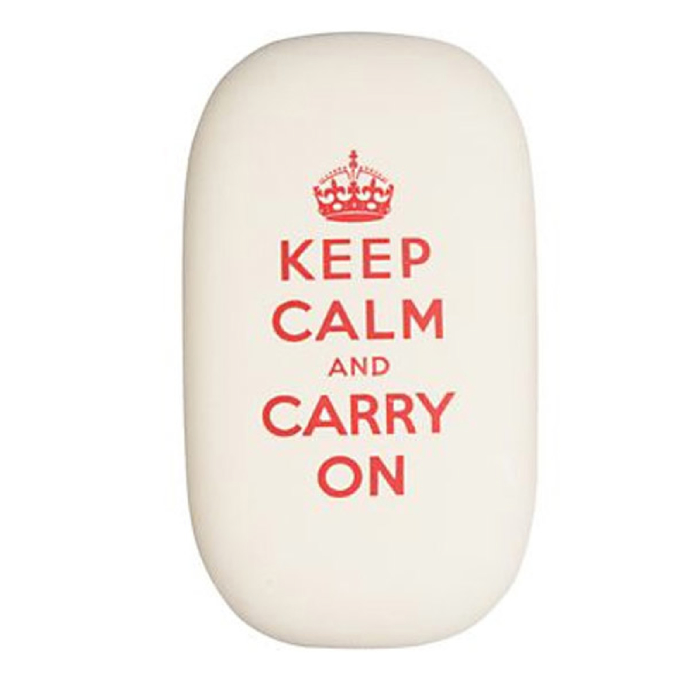 Cavallini Oval Eraser Keep Calm
