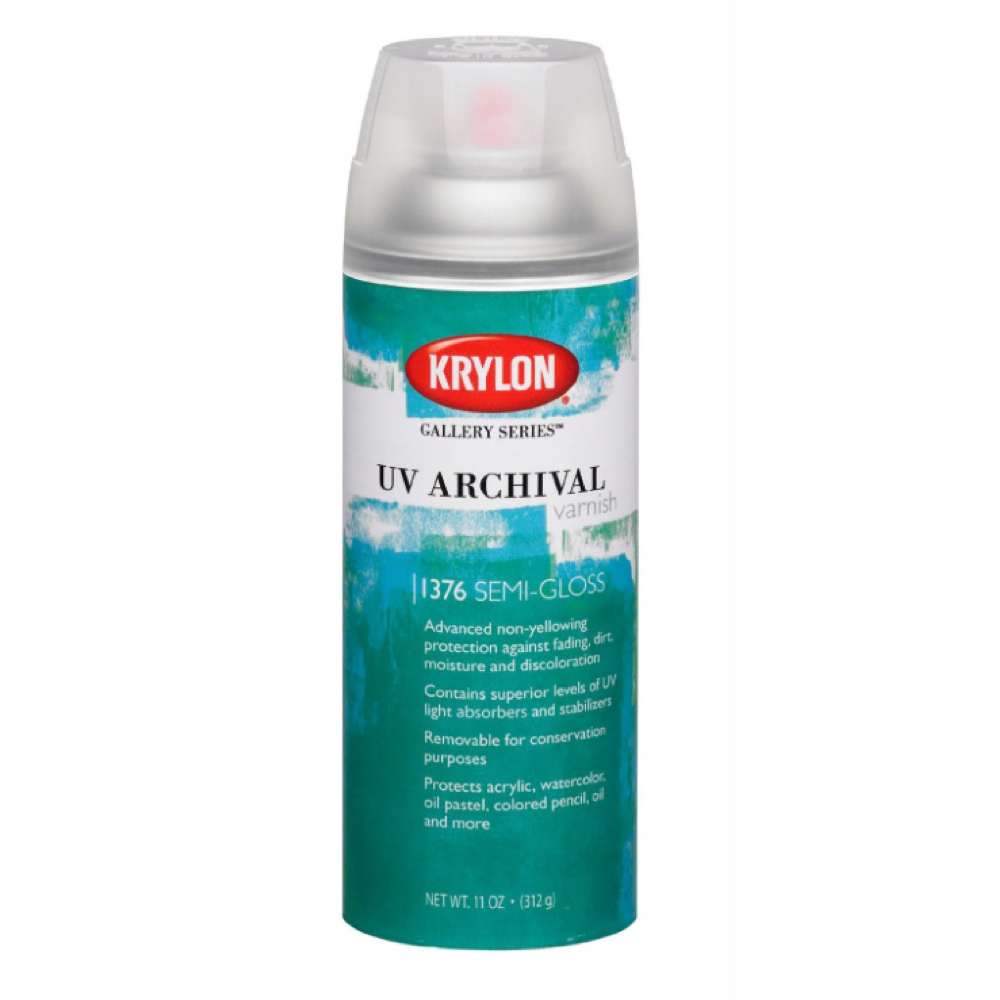 Krylon 11 Oz Uv Archival Varnish Semi-Gloss