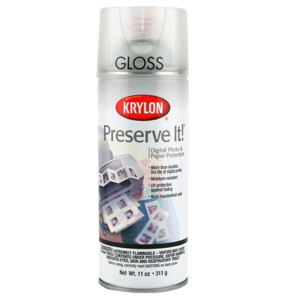 Krylon 7026 Preserve It! Gloss Spray 11 Oz