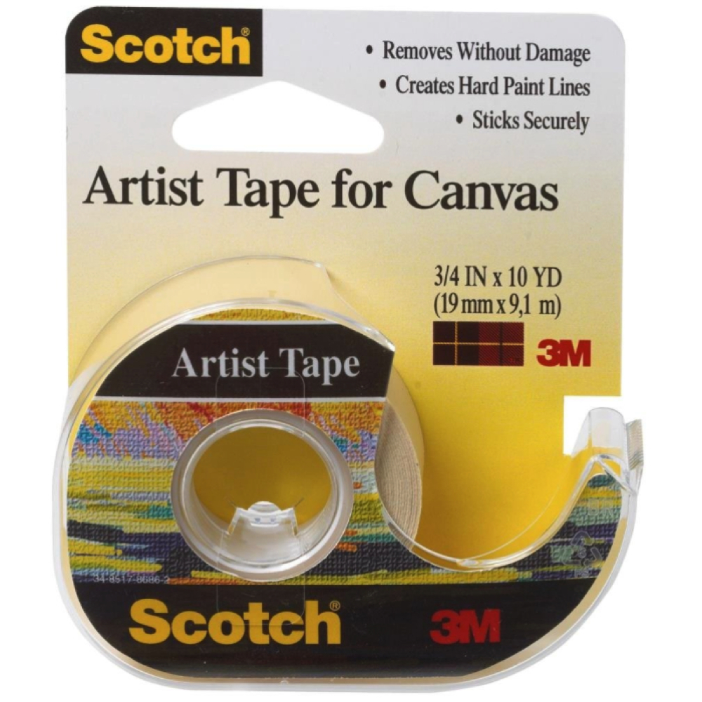 3M Artist Tape For Canvas 3/4 X 10Yds