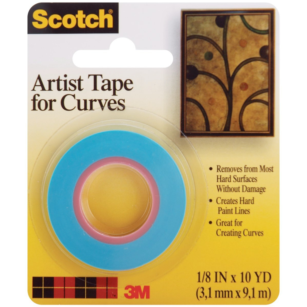 3M Artist Tape For Curves 1/8In X 10Yd