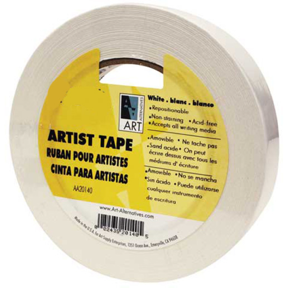 Economy White Artist Tape 1.5In X 60Yds