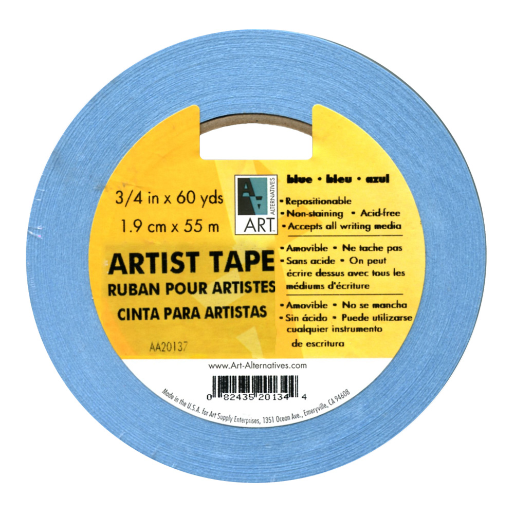 Artists Tape Blue 3/4In X 60Yds