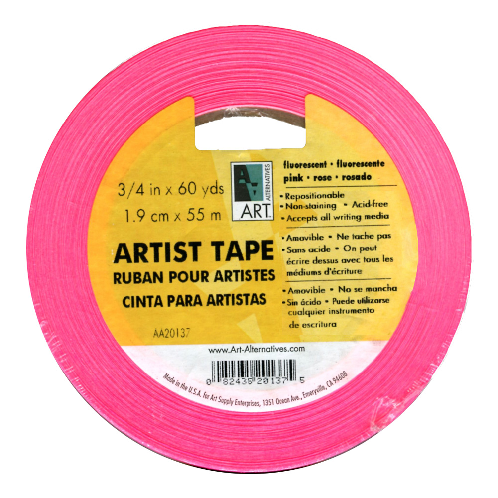 Artists Tape Fluorescent Pink 3/4In X 60Yds