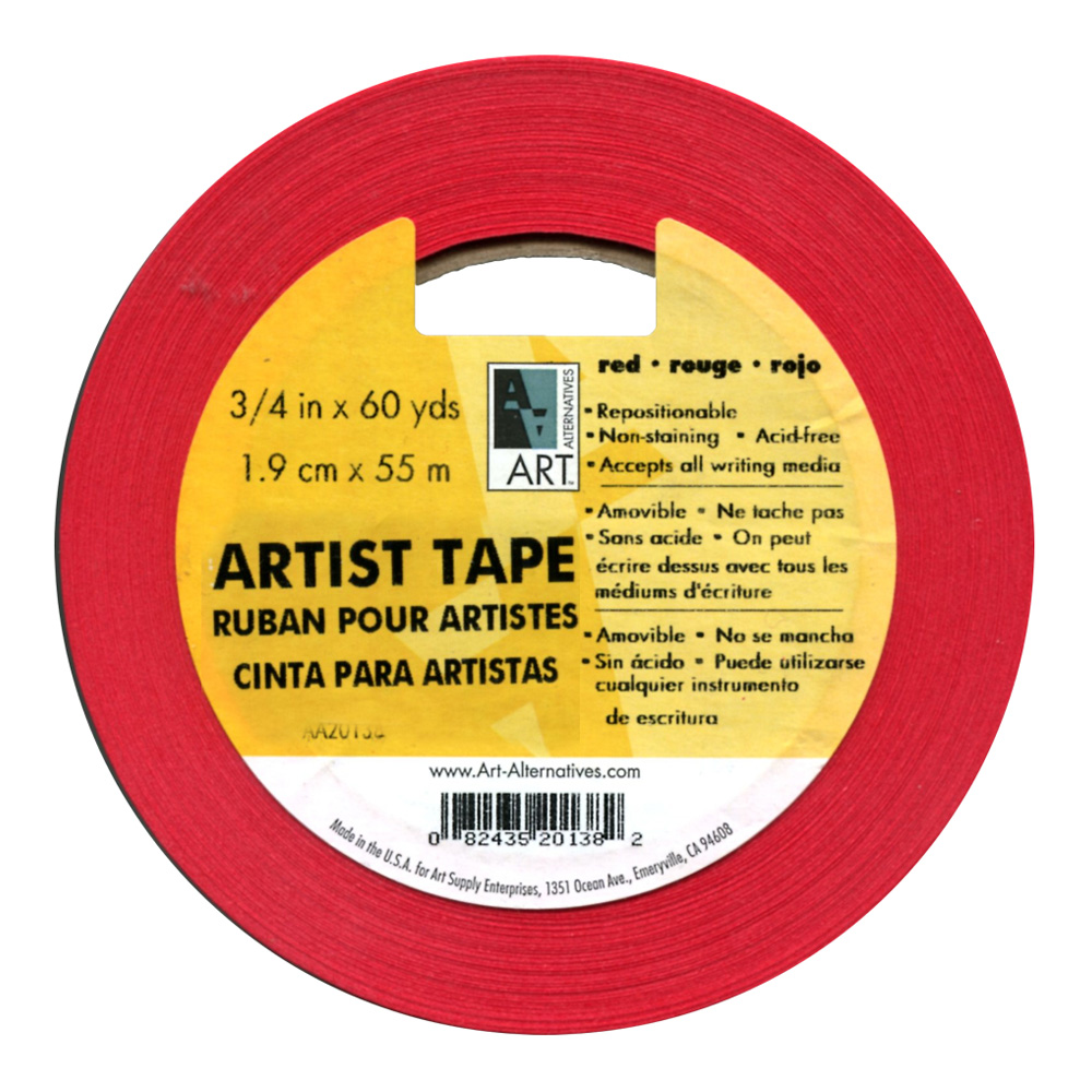 Artists Tape Red 3/4In X 60Yds