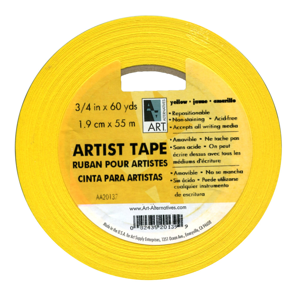 Artists Tape Yellow 3/4In X 60Yds