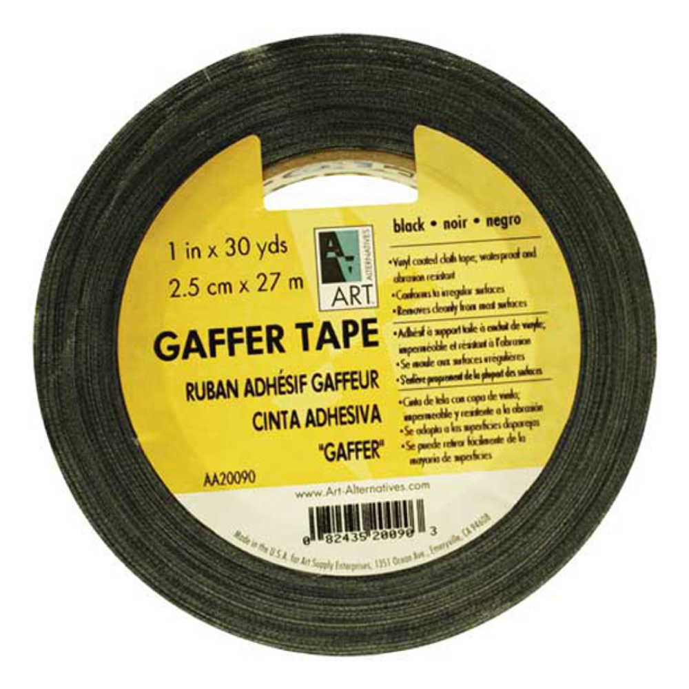 Gaffer Tape Vinyl Black 1In X 30Yds