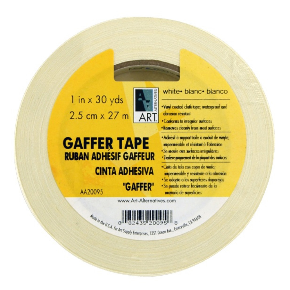 Gaffer Tape Vinyl White 1In X 30Yds