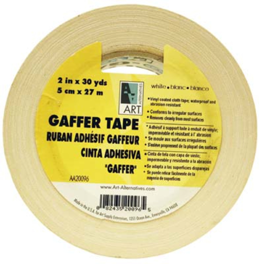 Gaffer Tape Vinyl White 2In X 30Yds