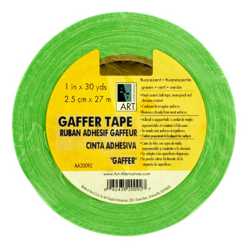 Gaffer Tape Fluorescent Green 1In X 30Yds