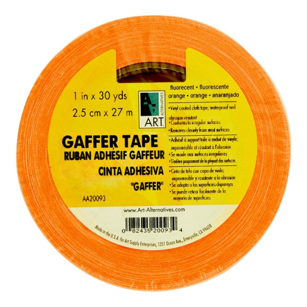 Gaffer Tape Fluorescent Orange 1In X 30Yds
