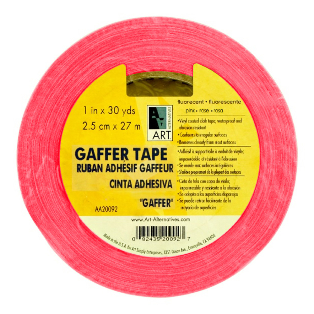 Gaffer Tape Fluorescent Pink 1In X 30Yds