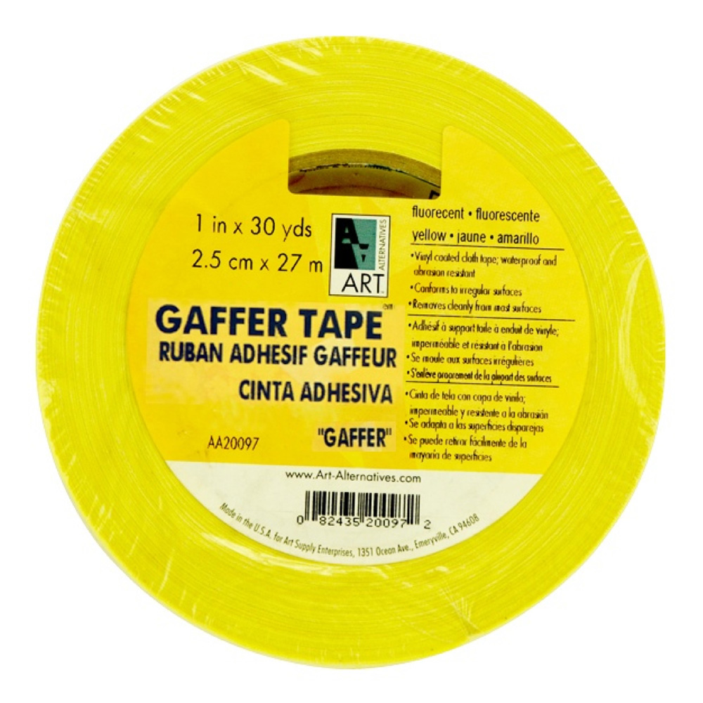 Gaffer Tape Fluorescent Yellow 1In X 30Yds