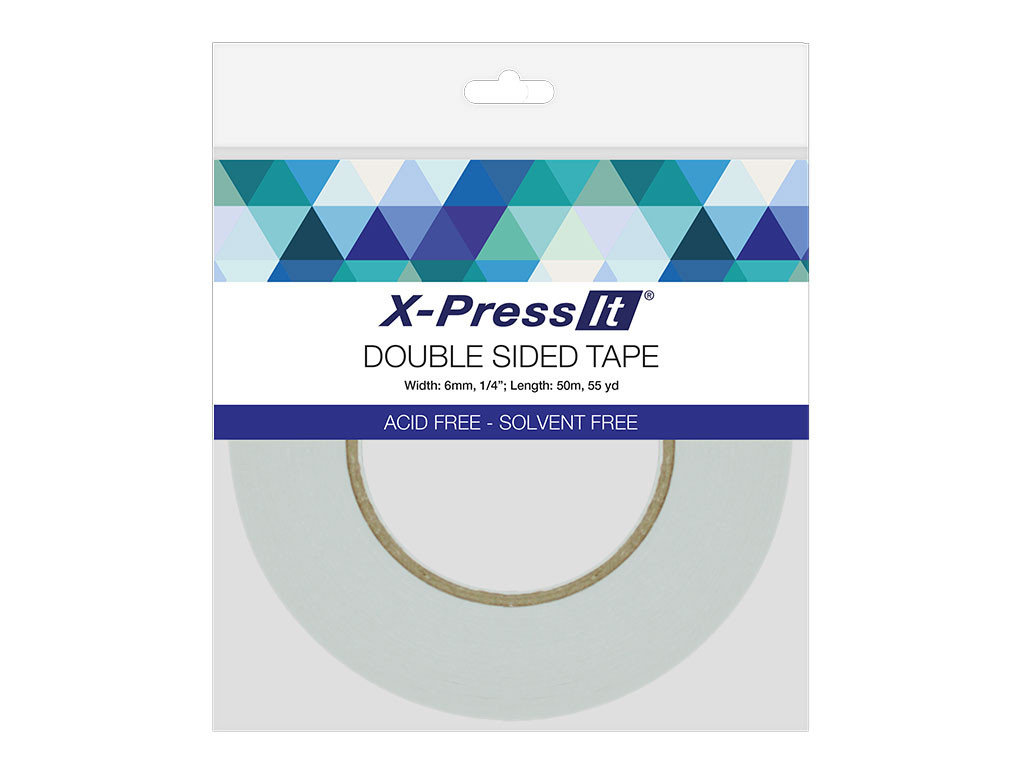 Xpress Double Sided Tissue Tape 1/4In X 55Yd