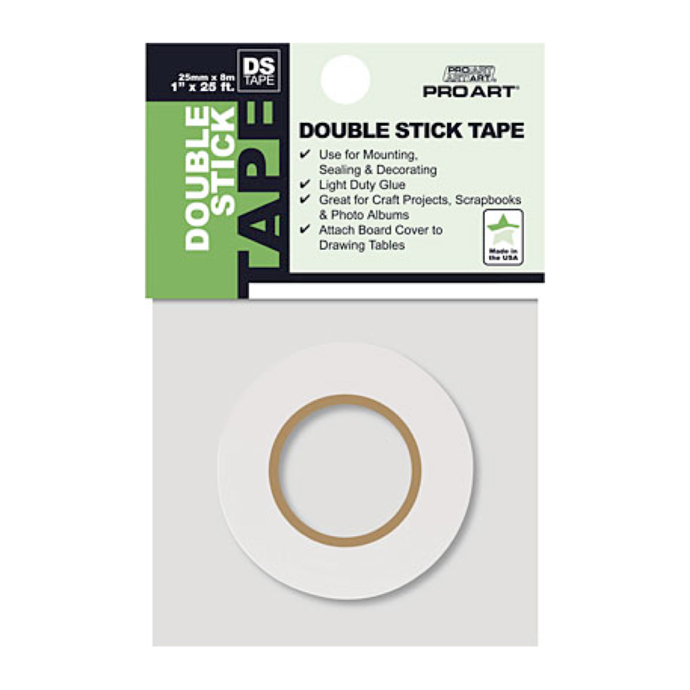 Pro Art Double Sided Stick Tape 1in X 25ft