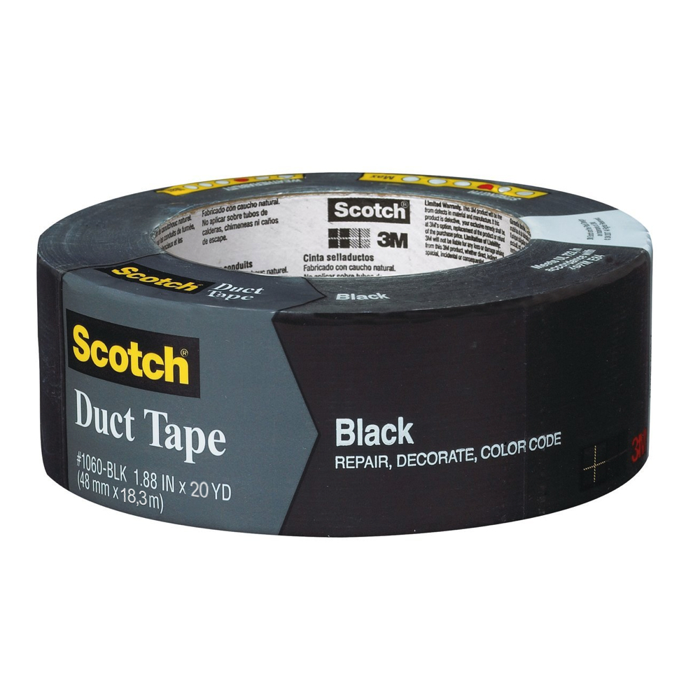 3M Duct Tape Black 2 X 20Yds