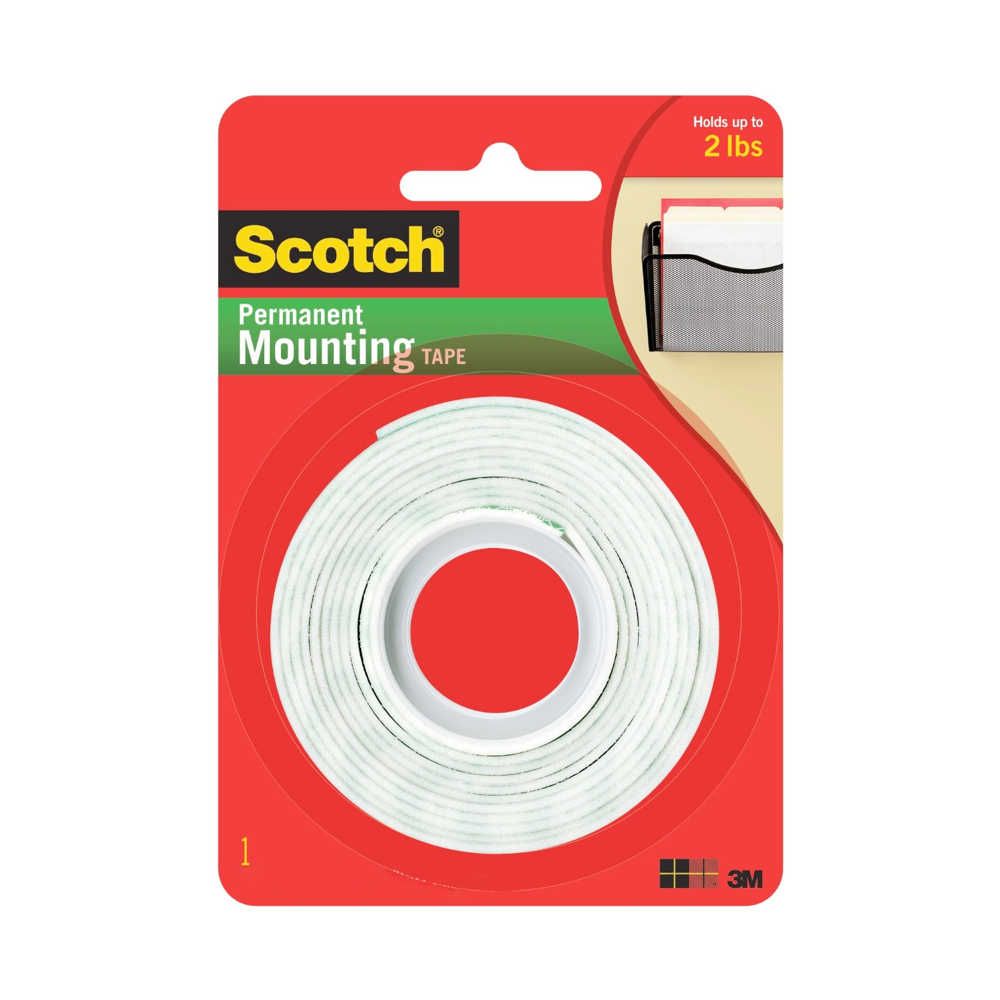 3M 110 Foam Mount Tape 1/16 X 1/2 X 75In