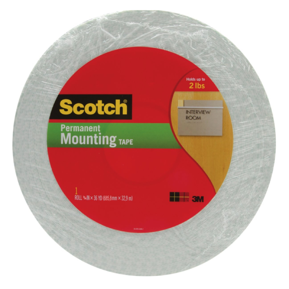 3M 4016 1/16In Thick Foam Tape 3/4In X 36Yds