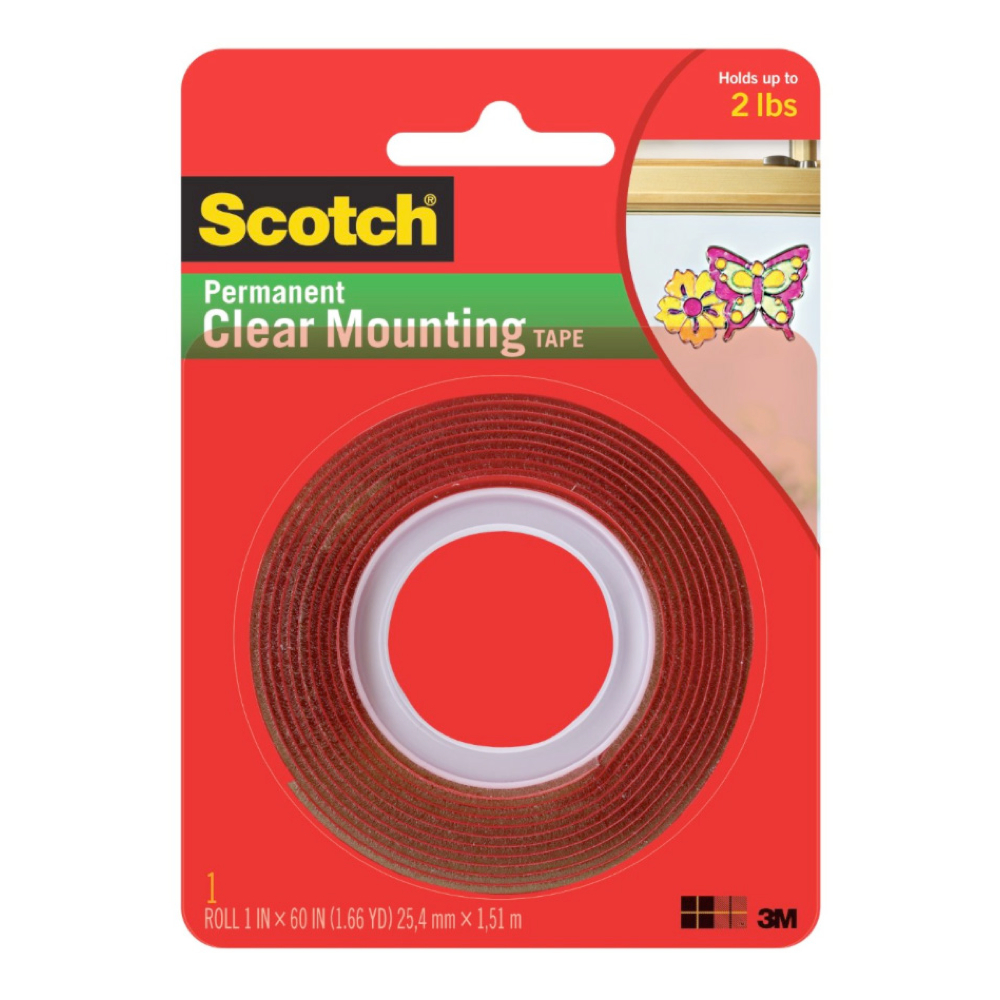 3M 4010 Clear Doublestick Foam Tape 1 X 60In