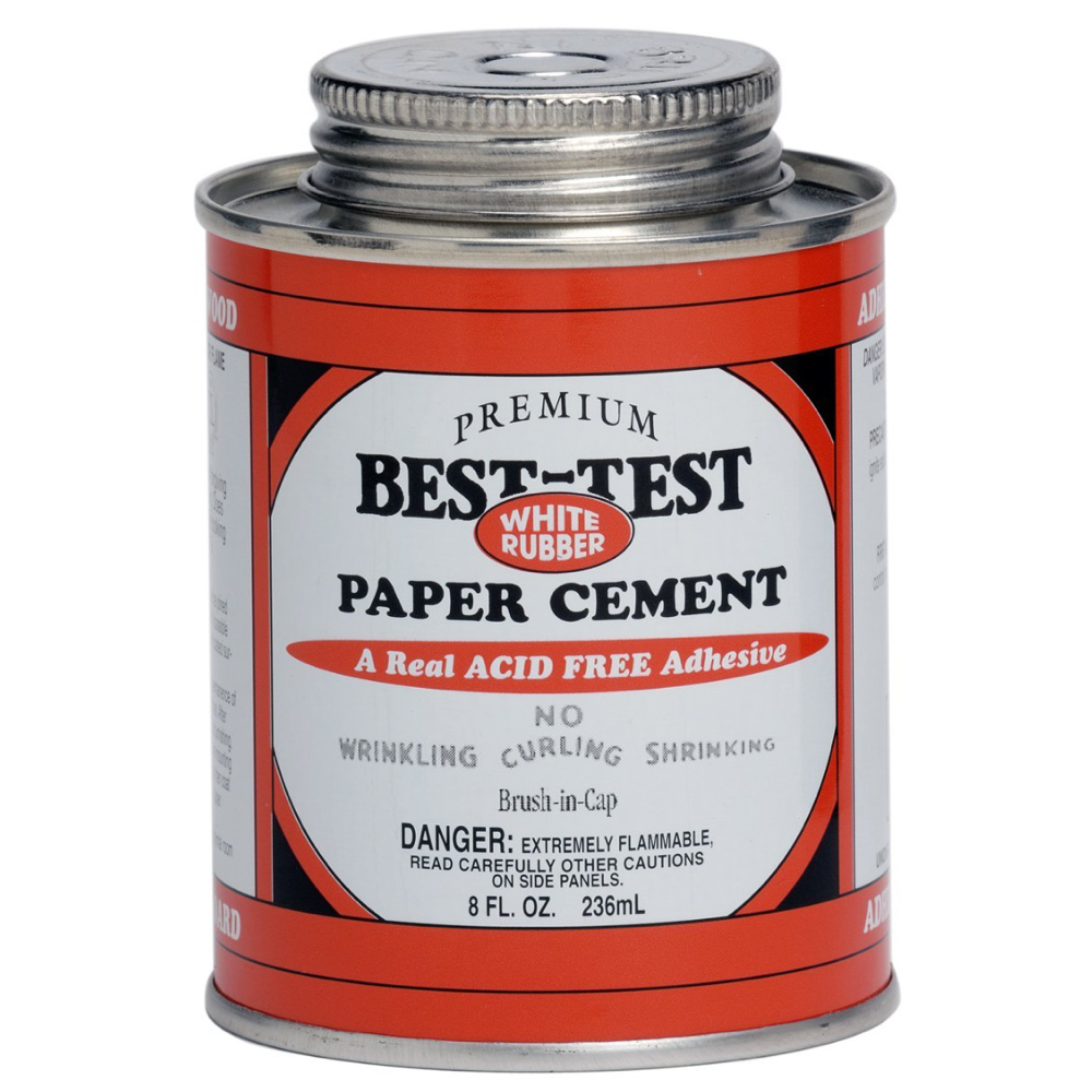 Best-Test Paper Cement W/Brush 8 Oz *Orm5