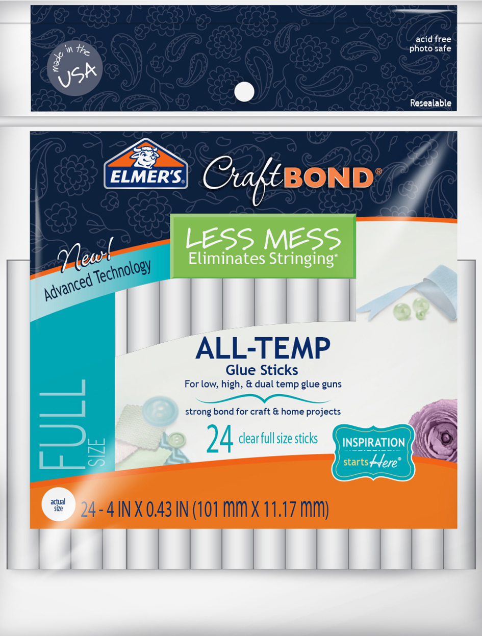 Elmers Less Mess Glue Sticks 4-Inch Pack/24