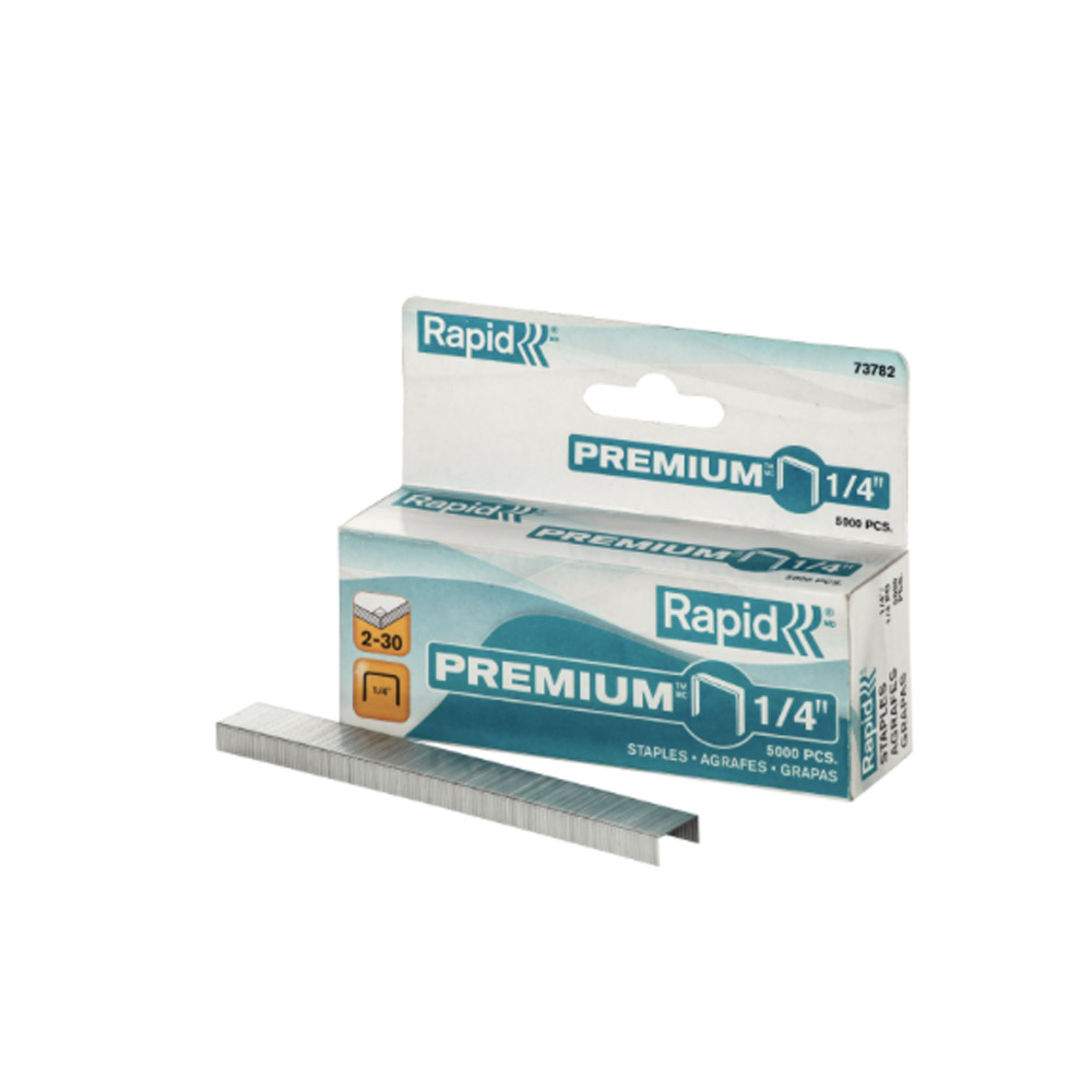 Rapid Premium 1/4 Staples (5000)