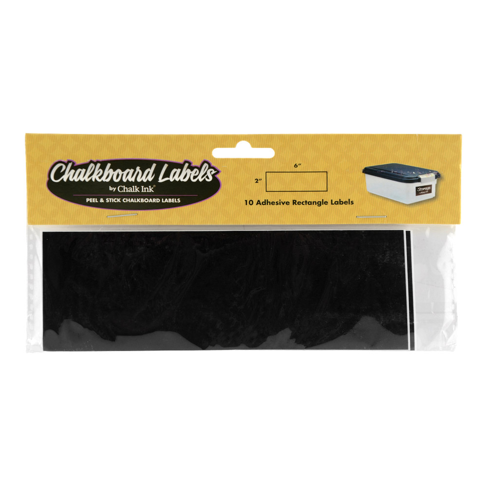 Chalk Ink Chalkboard Label Lg Rectangle Pk/10