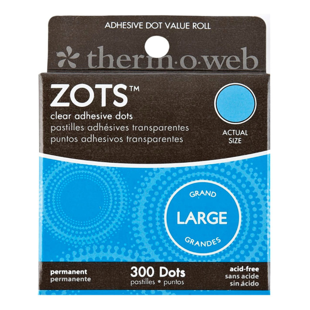 Zots Clear Memory Adhesive Dots #83 Large