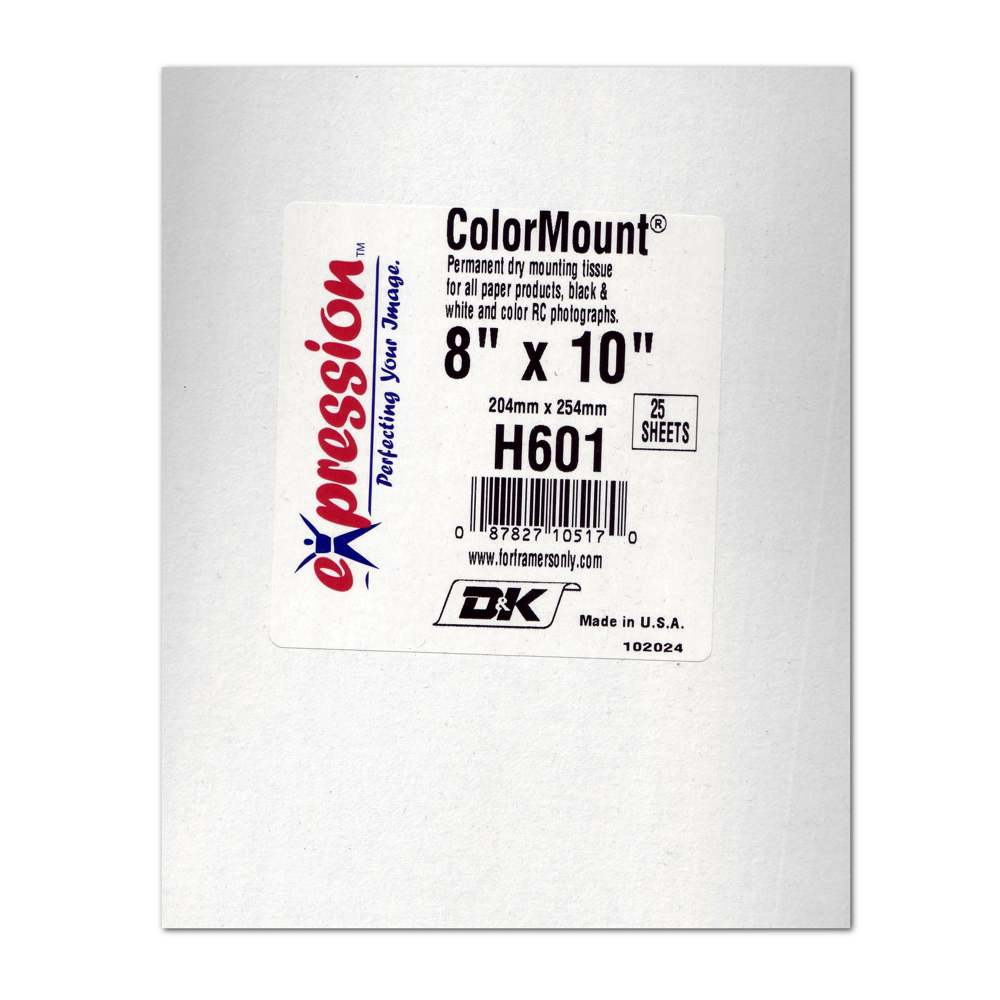 Colormount Dry Mounting Tissue 8X10 25Pk
