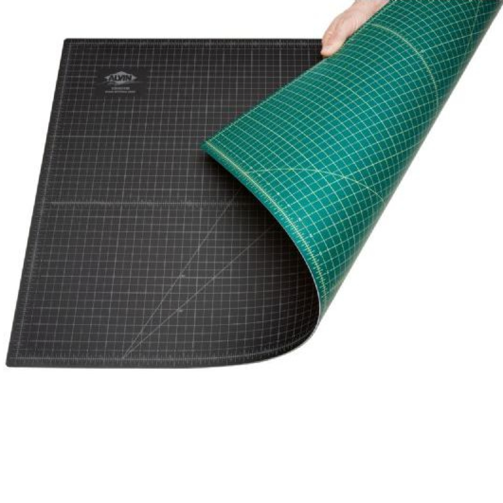 Cutting Mat Opaque Green & Black 8X12