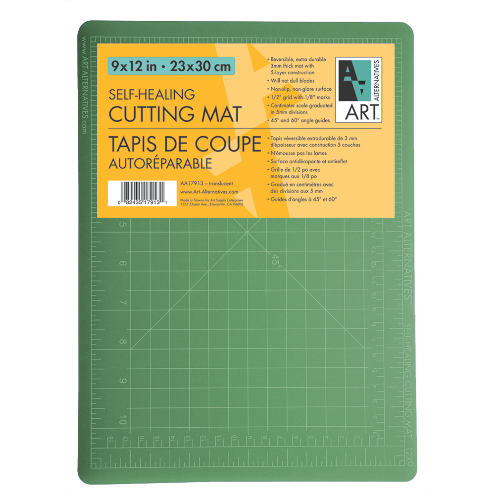 Art Alternatives Cutting Mat Green/Black 9X12