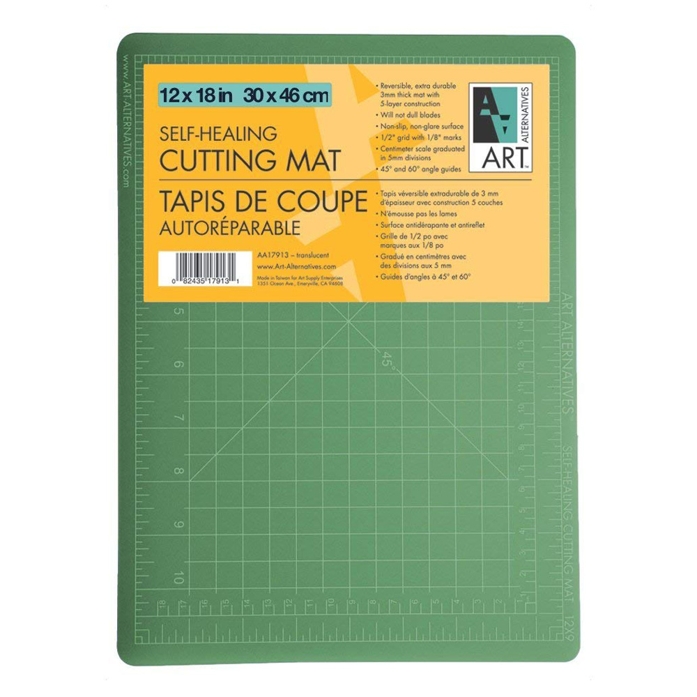 Art Alternative Cutting Mat Green/Black 12X18