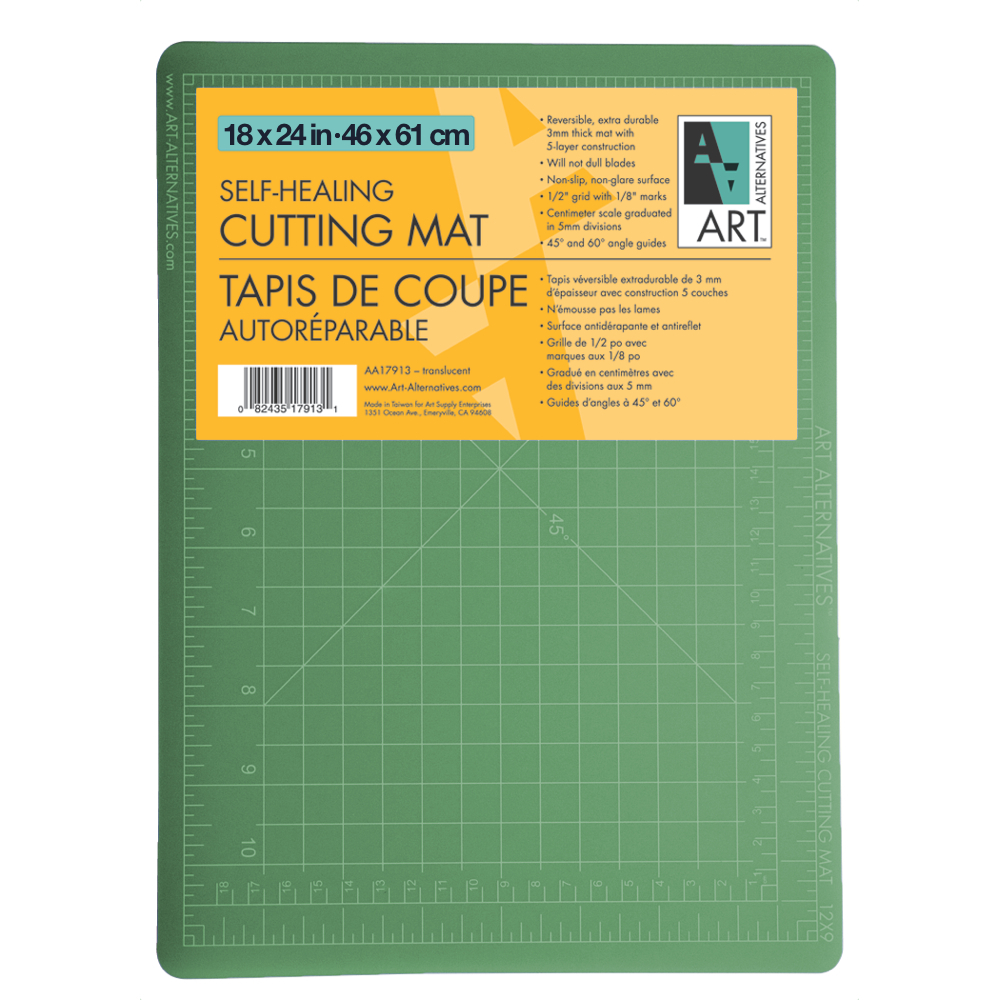 Art Alternative Cutting Mat Green/Black 18X24