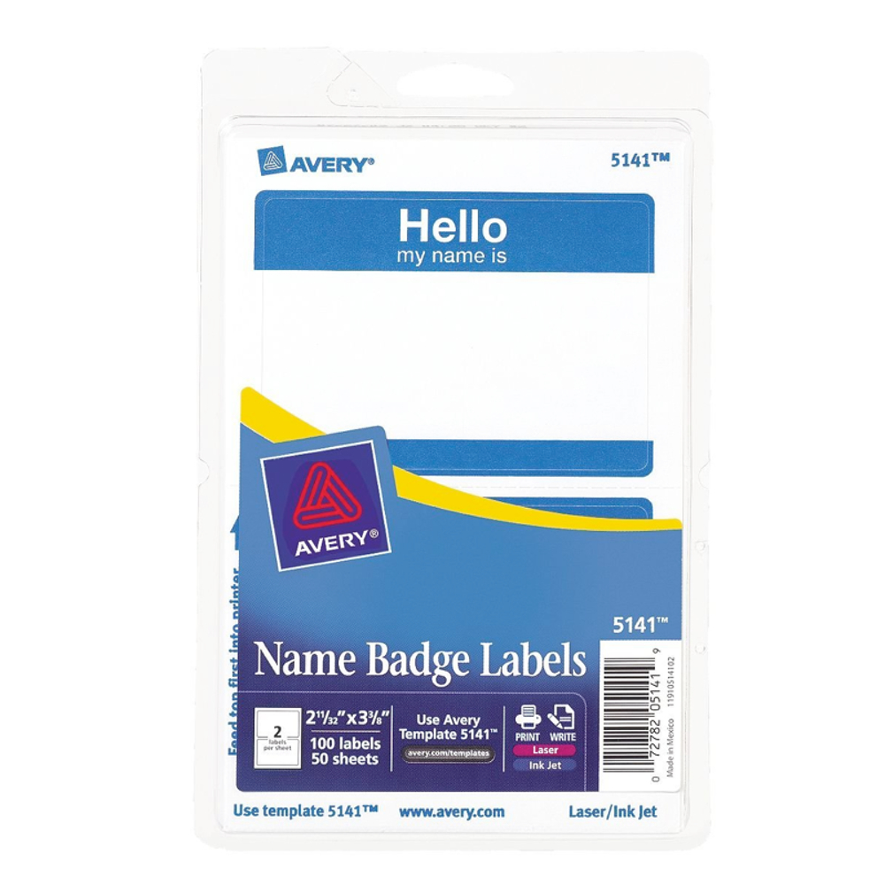 Avery 05141 Hello Name Labels Blue