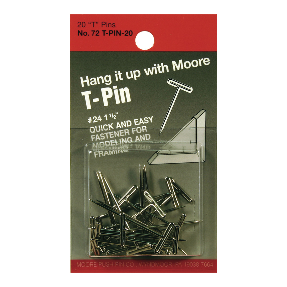 Moore T-Pins 1.5Inch Pkg/20