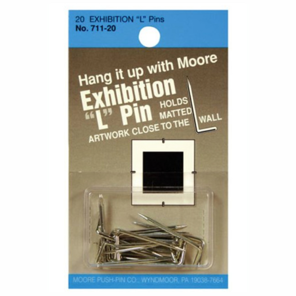 Moore Exhibition L-Pins Pkg/20