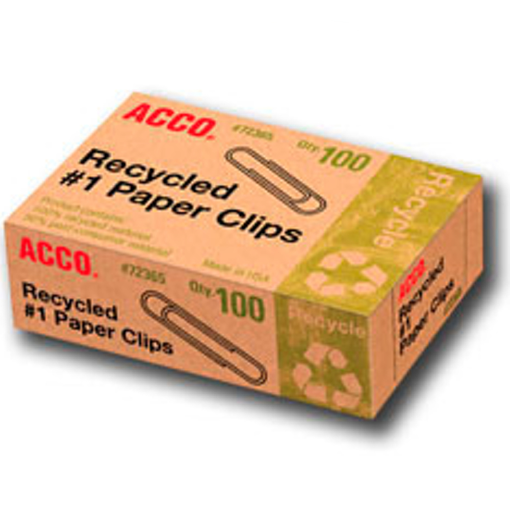 Paper Clips Recycled Box/100