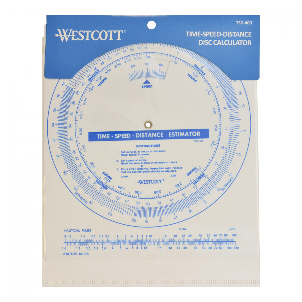 Westcott Tsd-400 Time Speed Distance Disc Cal